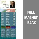 Miami Pro Football Schedule Vinyl Magnet (3 1/2