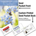 Custom Forget-Me-Not (blue)/ Mailable Seed Packet - Custom Printed Back