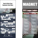 Custom Peel and Stick New York (AL) Pro Baseball Schedule Magnet (3 1/2