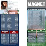 New England Pro Football Schedule Magnet (3 1/2