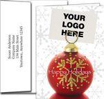 Custom Logo Holiday Greeting Cards w/Imprinted Envelopes