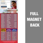 Kansas City Pro Football Schedule Vinyl Magnet (3 1/2