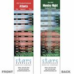 Custom Atlanta Pro Football Schedule Bookmark (2 1/4