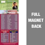 San Francisco Pro Football Schedule Vinyl Magnet (3 1/2
