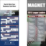 Custom Peel and Stick New York (NL) Pro Baseball Schedule Magnet (3 1/2