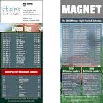 Custom Green Bay Pro Football Schedule Magnet (3 1/2
