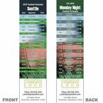 Seattle Pro Football Schedule Bookmark (2 1/4