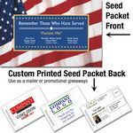 Custom Patriotic & 4th of July Mailable/Handout Seed Packet - Custom Printed Back