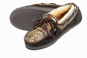 91dcaaf2a3d3 Adult Camo Leather Moccasins - 5035 - IdeaStage Promotional Products