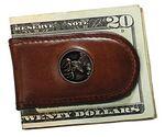 Custom Wildlife Money Clip w/Trout Concho
