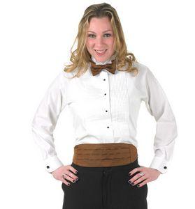 9517e641cb0c3a Women's Lady Martino White Tuxedo Shirt - 1/8
