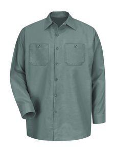 Custom Red Kap Industrial Solid Long Sleeve Work Shirt