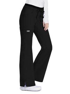 Custom Cherokee Workwear Premium Core Stretch Jr. Fit Low-Rise Drawstring Cargo Pants