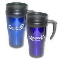 16 Oz. Double Wall Stainless Steel Travel Mug w/Plastic Liner