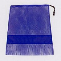 Nylon Mesh Drawstring Bag w/ Dark Band