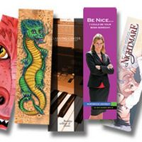 "Full Color Bookmarks (1.5"" x 7"") - Printed Both Sides on Thick 14 Point card stock, Made in USA"