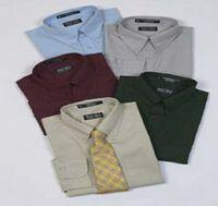Men's Cotton Poplin Short Sleeve Dress Shirt