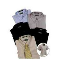 Ladles' Cotton Poplin Dress Shirt w/ Short Sleeve