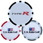 Custom Full Color Poker Chip Ball Markers with Double Sided Logo
