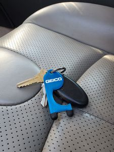 Geico branded TOUCH-AID on keys