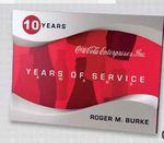 Custom Contemporary Molded Urethane Bar Award (10 Years of Service)