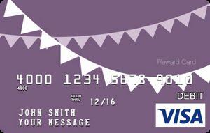 Custom Load Value Visa Reward Card