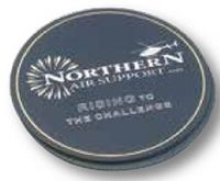 Set of 2 Round Top Grain Leather Coasters