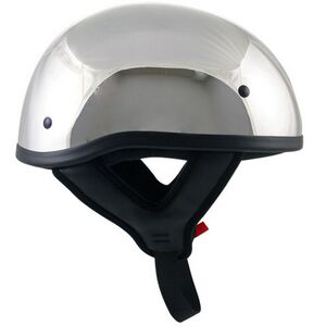 Outlaw Chrome Motorcycle Skull Cap Half Helmet - ML-86T-CHROME - IdeaStage  Promotional Products 4bd7438afae3