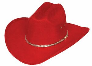 Red Faux Felt Western Cowboy Hat - WE-BFF26RED - IdeaStage Promotional  Products 9aa1fad898b