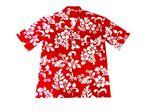 Custom Red Short Sleeve Hawaiian Cotton Shirt