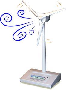 Custom Printed Solar Desktop Wind Turbines