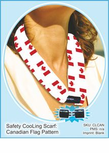 Canadian Flag Print CooLooP Active Water Scarf