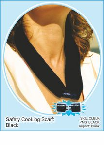 The CooLooP Active Water Scarf (Black sold BLANK Only)