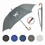 Premium Oversized Golf Umbrella w/ Engineered Wood Curved Handle (64