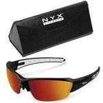 Kele by NYX Eyewear Saber Black Sport & Golf Sunglasses Package w/Custom Case