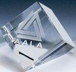 Custom Small Optical Crystal Cube w/ Triangle Bottom (3 1/4