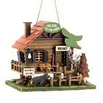 Custom Woodland Cabin Birdhouse