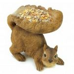 Custom Woodland Squirrel Bird Feeder
