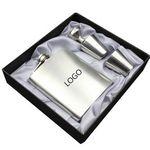 Custom Classic Matte Style Stainless Steel 7 oz. Liquor Flask Set