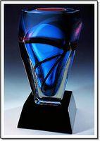 """Glaze Fusion Vase w/ Marble Base (5""""x5""""x10"""")"""