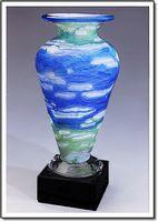 "Van Gogh Athena Art Glass Vase w/o Marble Base (3.75""x6"")"