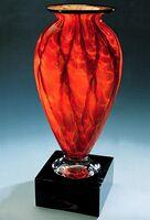 "Diamond Blaze Mercury Vase w/o Marble Base (3.75""x6"")"
