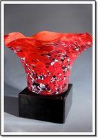 Montserrat Splash Art Glass Vase w/o Marble Base