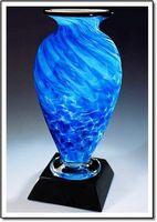 "Arctic Pool Mercury Art Glass Vase w/o Marble Base (3.75""x6"")"