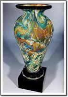 """Marina Athena Art Glass Vase w/o Marble Base (3.25""""x6"""")"""