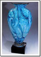 "Tropical Breeze Mercury Art Glass Vase w/o Marble Base (3.75""x6"")"