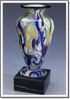 """Harlequin Athena Art Glass Vase w/o Marble Base (3.75""""x6"""")"""