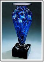 """Midnight Tempest Athena Vase w/o Marble Base (3.25""""x6"""")"""