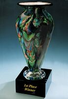 "First Place Winner Golf Trophy Vase w/o Marble Base (3.25""x6"")"