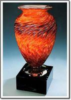 """Firestorm Vase w/ Marble Base (3.75""""x7.5"""")"""